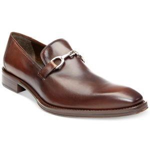 { Donald J Pliner } Signature Caffar Brown Loafer